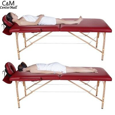 2-034-Pad-84-034 Portable Massage Table w/Free Carry Case Chair Bed Spa Facial
