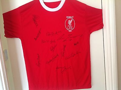 Liverpool Retro 1965 FA Cup Final Shirt,Signed By All 12 Players.