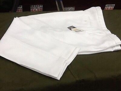 DRAKES PRIDE WHITE BOWLS TROUSERS - 44in WAIST 29in LEG - LAWN BOWLS WHITES