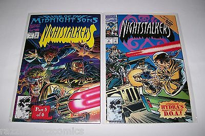 Nightstalkers # 1 2 5 6 NM 9.4 9.6 Rise of Midnight Sons Marvel Punisher 1992
