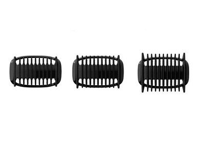 Black 3mm 5mm 7mm Bi-directional Plastic Head Comb For Philips Bodygroom Shaver