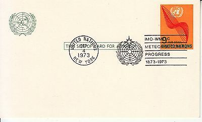 Meteorological Progress 1973 pm on card United Nations