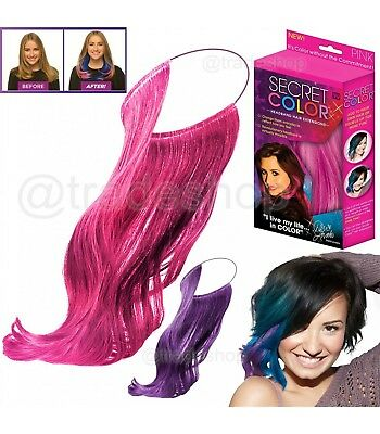 Ts Secret Color Colorata Extension Effetto Meches Per Capelli Fucsia Rosa Nero B