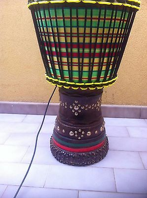professional solo calf skin djembe  ivory pro- 63x34 cm by emporio djembe pro