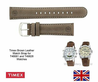 Timex Replacement Leather Strap for T46681 or T49828 Expedition Timex Watches