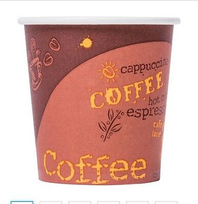 Choice 4 oz. Poly Paper Hot Cup For Espresso with Coffee Design - 1000/Case
