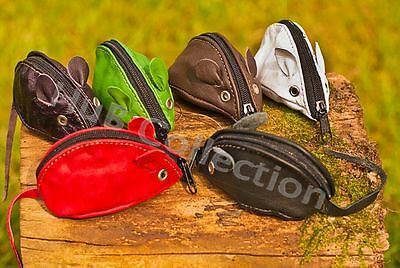 Coin Mouse Purse for Children and Adult Leather different colours HuB Collection