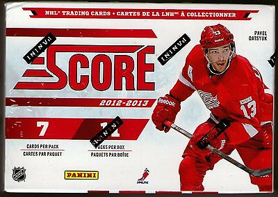 2012-2013 Score NHL Hockey 11 Pack Hobby Box