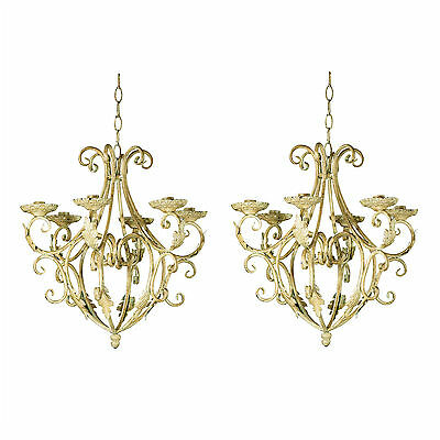 CHANDELIERS: Set of 2 Royal Old World CANDLE HOLDERS Royalty Chandelier Pair NEW
