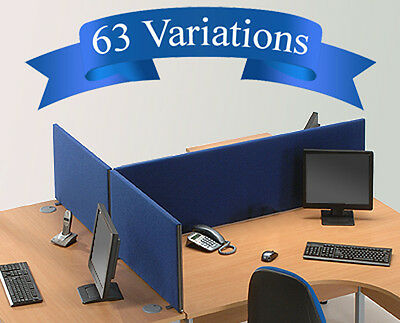 Office Desk Divider Partition Screen Panel H45cm x 7 Widths Free Delivery £43.99