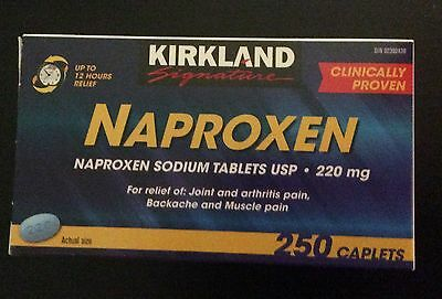 Kirkland Naproxen Sodium 220mg tablets Pain Reliever 250 Count New Sealed Bottle
