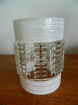 Attractive Vintage Retro Glass Ceiling Lamp Shade Decorated Cylinder Shape