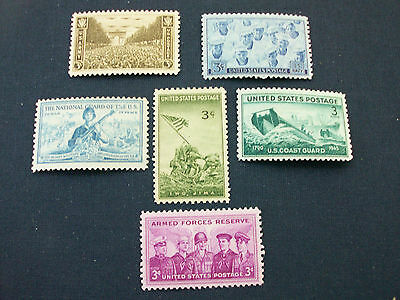Tributes to the United States Armed Forces (6 stamps)
