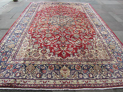Old Traditional Hand Made 13x9 Persian Oriental Wool Red Large Carpet 407x290cm