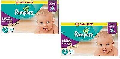 Giga Pack PAMPERS ACTIVE FIT Taille 3 5-9 Kg 2 Cartons de 120 soit 240 Couches