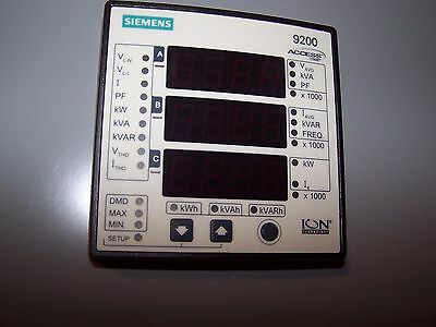 New Siemens 9200 Power Meter Display And Transformer
