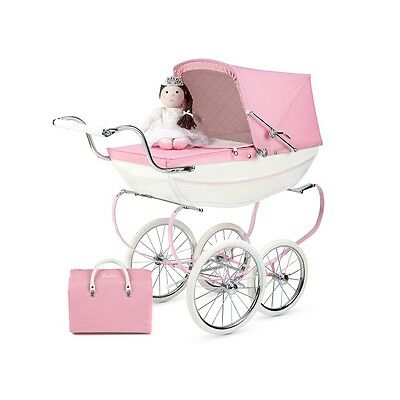 Silver Cross Princess Pink Coach Built Dolls Pram New In Box