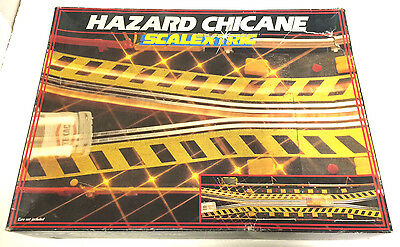 Scalextric C208 Hazard Long Chicane with led lights Vintage Boxed Classic Track