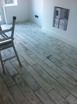 White Washed Wood Effect floor tiles