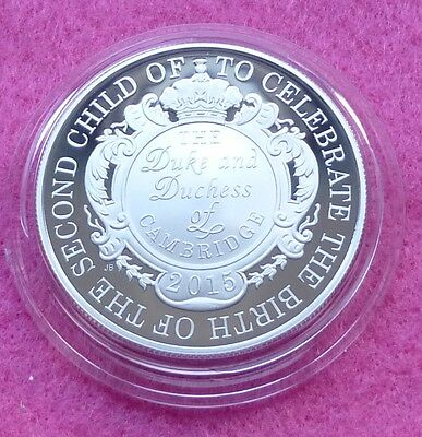 2015 Royal Birth Princess Charlotte  Silver Proof Five Pound Coin Box + Coa