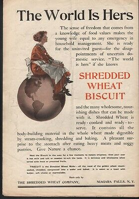 1912 Shredded Wheat Biscuit Suffrage Housewife Domestic Food Cook 22616