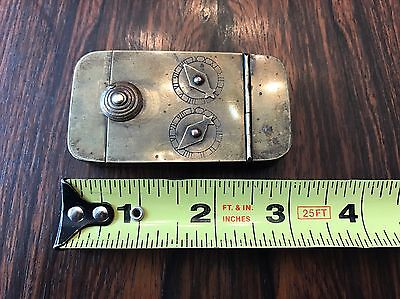 Early 19th Century Brass Two Dial Combination Snuff Box