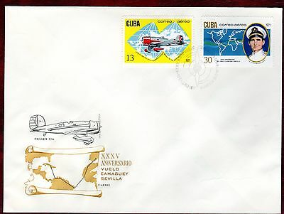 CARIBBEAN STAMPS- 35th Anniversary of Camaguey-Seville Flight,  FDC 1971