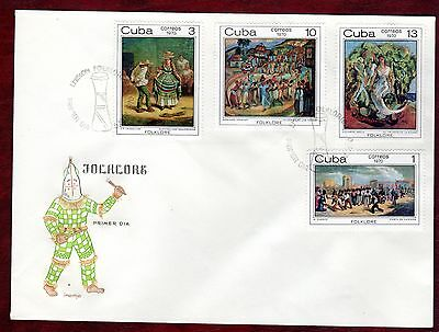 CARIBBEAN STAMPS- African Folclore Paintings , FDC 1970