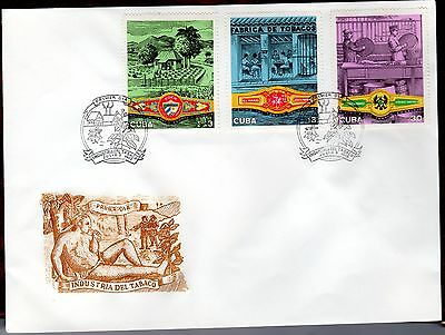 CARIBBEAN STAMPS- Tobacco Industry,  FDC 1970