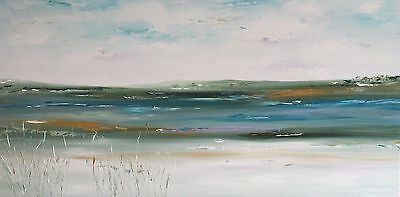 XL LANDSCAPE CONTEMPORARY ABSTRACT ACRYLIC ORIGINAL PAINTING 120x60cm box canvas