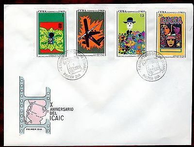 CARIBBEAN STAMPS- 10th Anniversary of national cinema, set on FDC, 1969