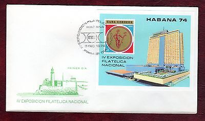 CARIBBEAN STAMPS- National Philatellic Exhibition ,block on FDC, 1974