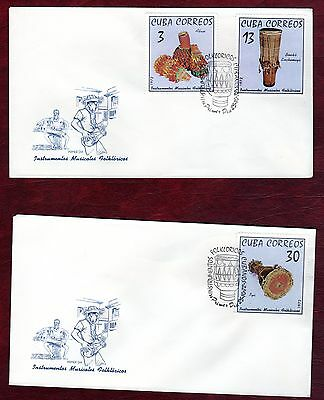 CARIBBEAN STAMPS- Traditional Musical Instruments ,set on 2x FDC, 1972