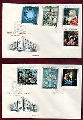 CARIBBEAN STAMPS- Paintings in National Museum, set on 2 FDC, 1969