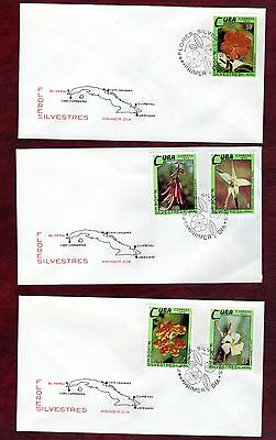 CARIBBEAN STAMPS-Wild flowers, set on 4 FDC, 1973