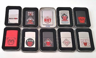 Zippo Lighters Lot of 10 Red Dog Beer Plank Road Brewery Miller