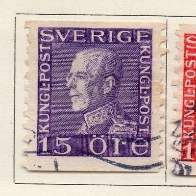 Sweden 1920-25 Early Issue Fine Used 15ore. 127568