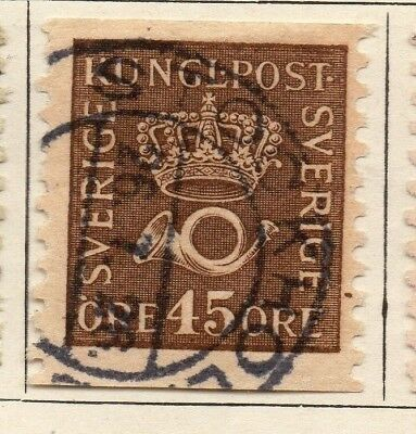 Sweden 1920-25 Early Issue Fine Used 45ore. 127585