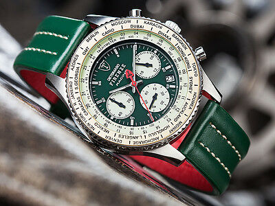 DETOMASO Firenze Racing Green Chronograph Mens Watch Stainless Steel  New (21)