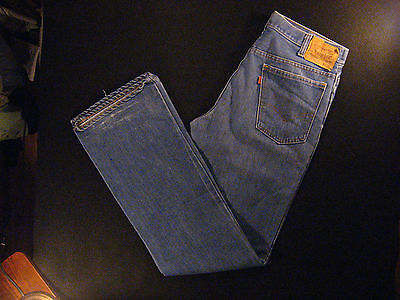 Vintage Levis 517-0917 Men's Jeans 31 x 33 MEASURED Orange Tab Flare 1970s 70s