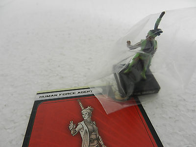Human Force Adept Star Wars Miniature 45/60 Fringe 10 With Card