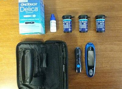 One Touch UltraMini Monitoring System BLUE color +150 Test Strips (without box)