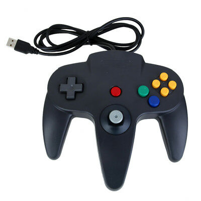 Black Retrolink Wired Classic USB Gamepad Controller for Nintendo 64 N64 PC