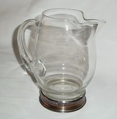 Wallace Sterling and Glass/ Crystal Pitcher Water/ Cocktail