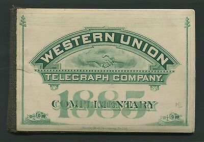 Us 16T15 1885 Western Union Telegraph Stamp Booklet