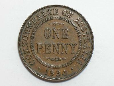 1934 Australia One Penny - Foreign World Coin
