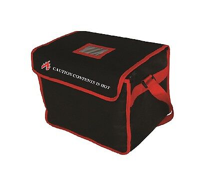 """Food Delivery Bag Size:14""""x12""""x10"""" Ideal for Kebab Indian Chinese Food Delivery"""