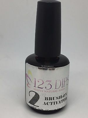 123 DIPS Nail PREP FOR DIPPING POWDER No Liquid,No Primer,No UV Light .5oz/15mL