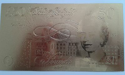 Gold £50 notes x 2
