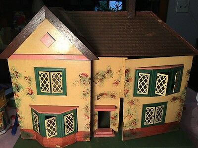 Antique Amersham - Triang  - Nameless - Litho, Wood, and Metal Doll House IDK